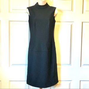 ESCADA GORGEOUS VINTAGE SILHOUETTE BLACK DRESS 34